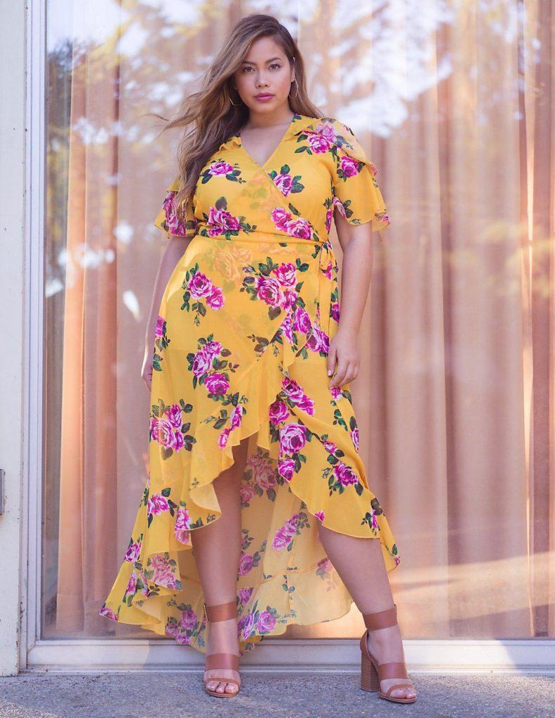Vestido estampado y femenino
