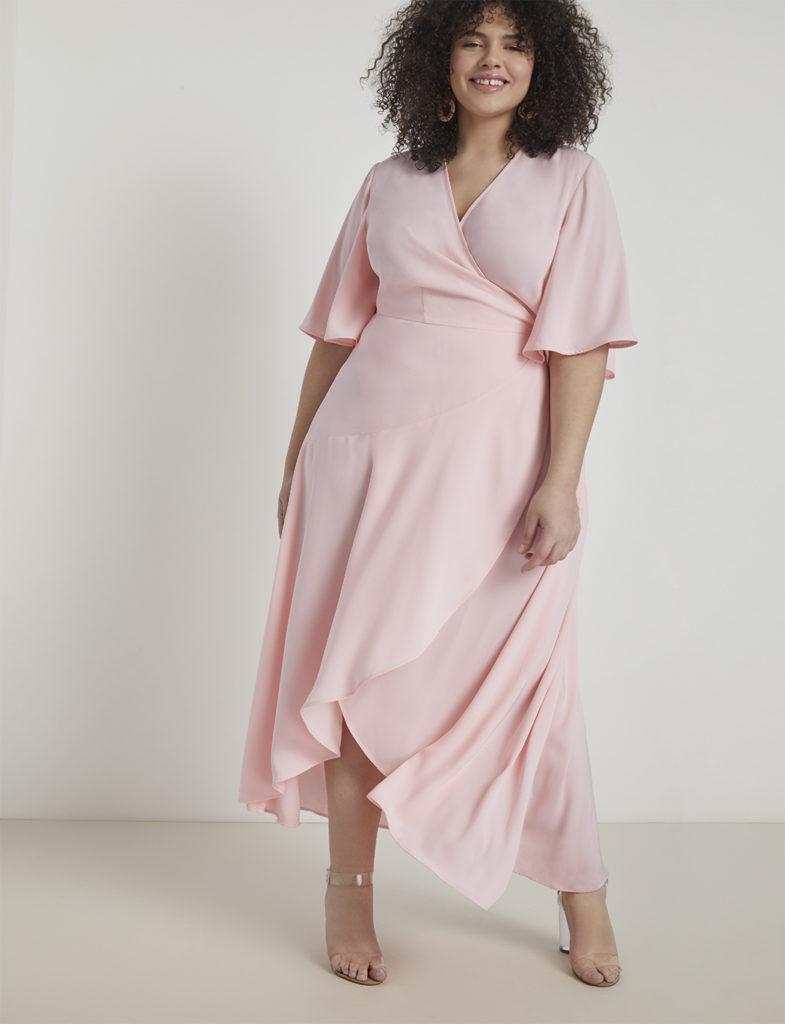 Vestido cruzado para mujeres con curvas