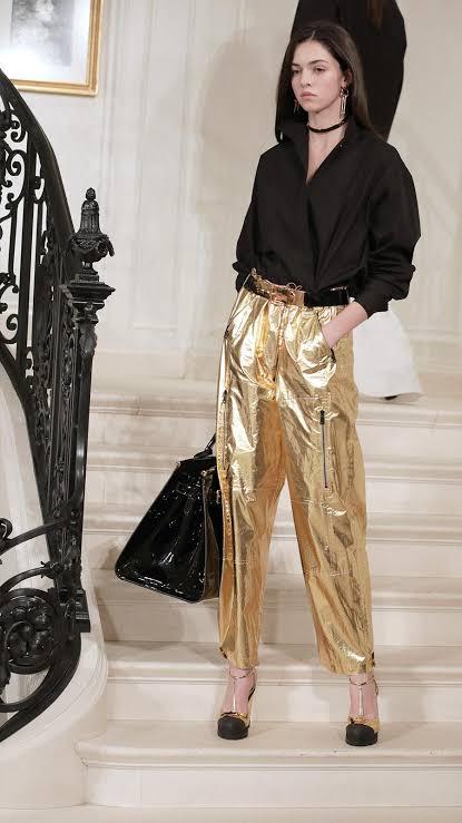 Pantalón dorado de fiesta