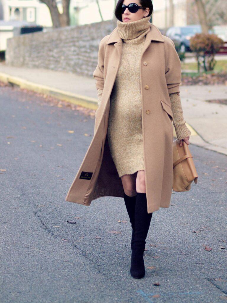 Look de invierno con vestido