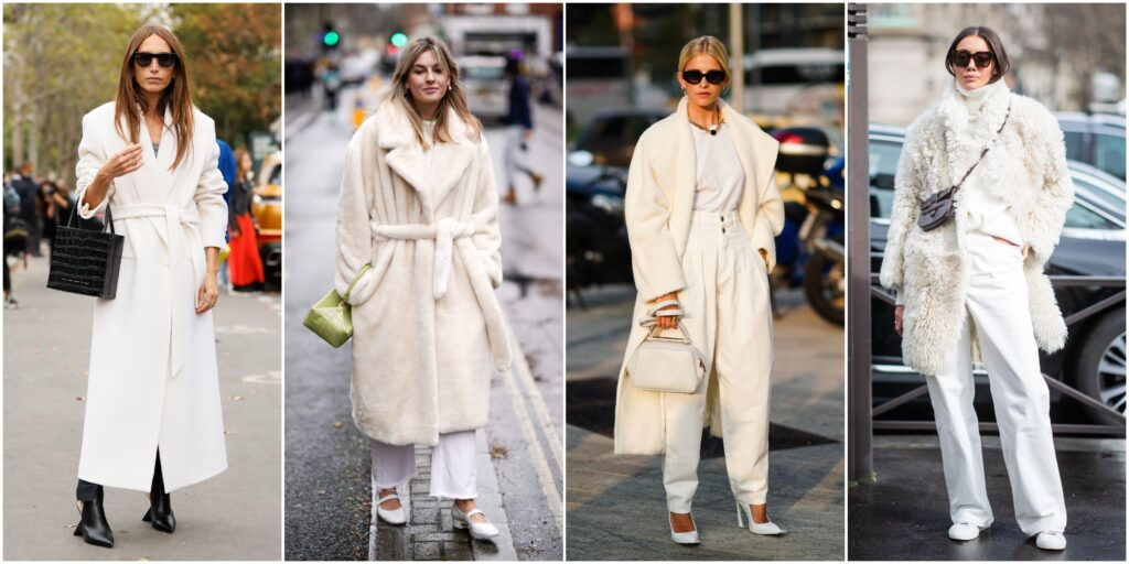 Como vestir de blanco en otoño invierno 2020