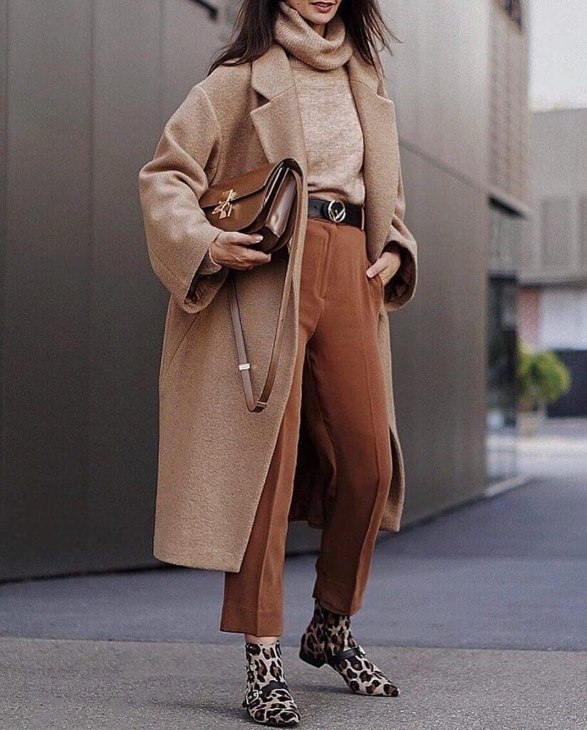 Como vestir en color camel en invierno