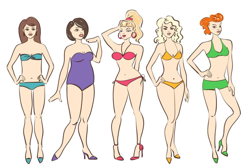 Tipos de cuerpo de mujer