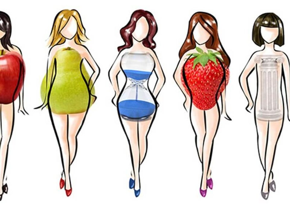 Diferentes tipos de cuerpo femenino