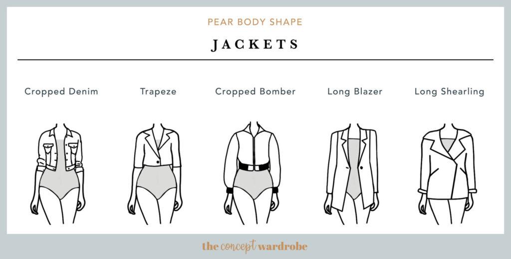 Abrigos y chaquetas cuerpo con caderas