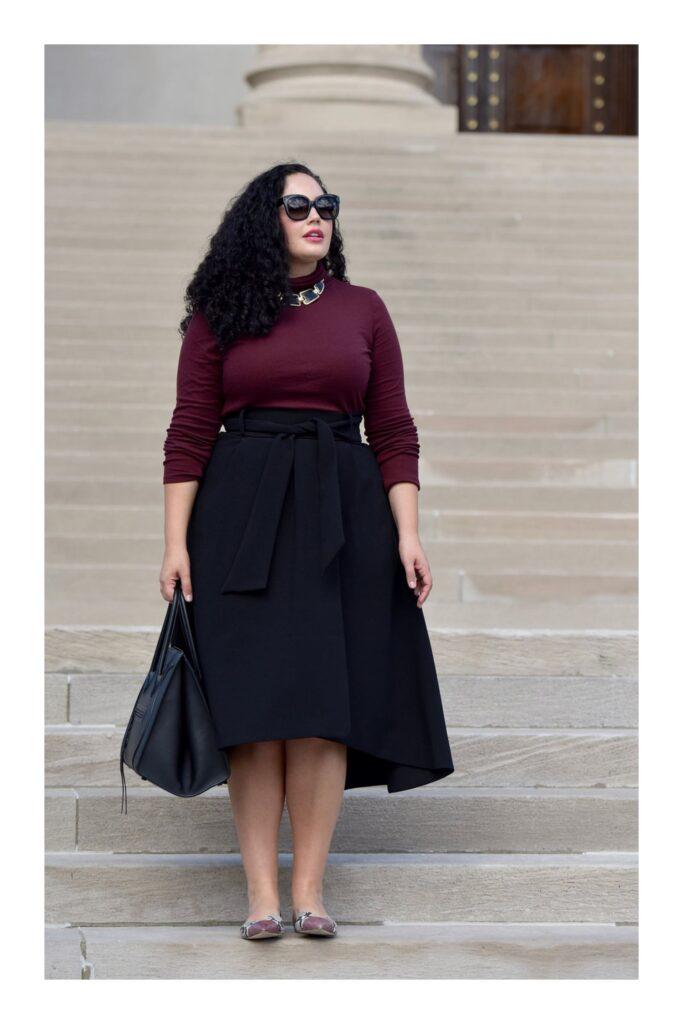 corte de falda ideal para mujer con caderas