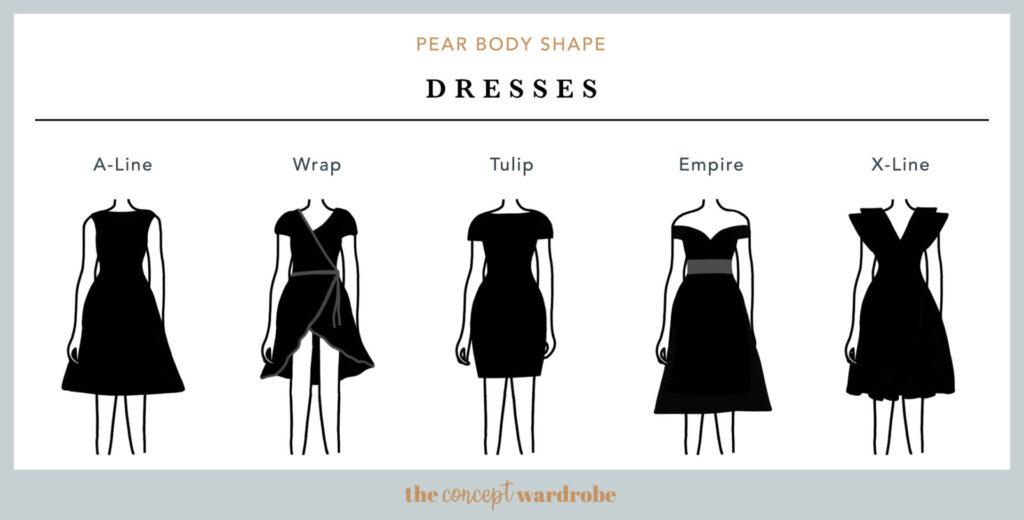 Patrones de los vestidos ideales para cuerpo pera